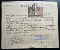 1898 Lemberg Austria Document Receipt Cover Tax Stamps