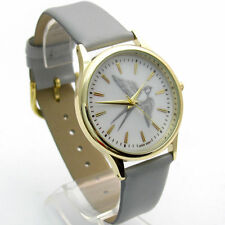 Faux Leather Band Analogue Wristwatches with 12-Hour Dial