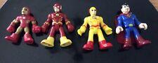 Imaginext marvel Dc figures Flash X2 Iron Man Superman Justice League Avengers