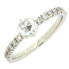 Auth Justin Davis  Diamond Rose Cut Ring PT900 Platinum US6