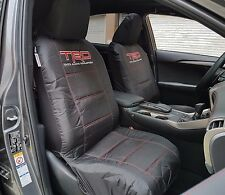 Pair New TRD Sports Canvas Auto Seat Cover For Toyota Corolla Hilux Kluger Prado