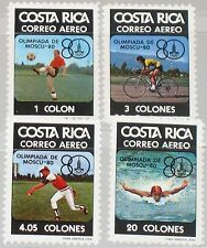 COSTA RICA 1980 1065-68 C782-85 Olympics Moscow Soccer Baseball Swimming MNH