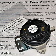 Vacuum switch for all Quadra-Fire Pellet Stoves SRV7000-531 + Instructions