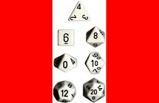 DUNGEONS & DRAGONS WHITE W/ BLACK DICE SET DnD CHX25401