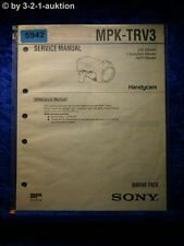 Sony Service Manual MPK TRV3 Marine Pack (#5942)