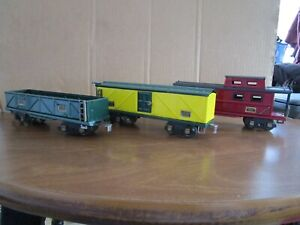 American Flyer, O Gauge, 3 Repainted Freight Cars
