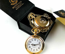 FIRE & RESCUE SERVICE Full Hunter POCKET WATCH GOLD FIREMAN Firefighter BRIGADE