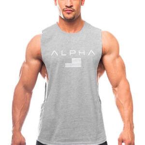 Gym Men Bodybuilding Sleeveless Tank Top Muscle Stringer Athletic Fitness Vest