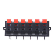 12 Way 2 Row Push Release Connector Plate Stereo Speaker Terminal Strip Block BD