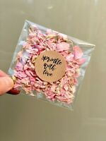 5 Delphinium Real Petal Natural Wedding Confetti Bags Packs Ivory Biodegradable