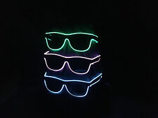 Sofortversand Leuchtbrille Blinkbrille LED-Brille Neon Party Fun Sonnenbrille
