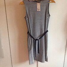 BNWT Uniglo Navy And Ivory Stripped Sleeveless Dress - Size M