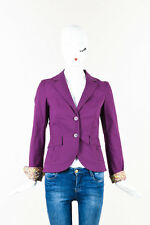 Etro Purple Cotton Blazer Jacket SZ 38