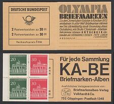 Bund Markenheftchen 14 c ** Brandenburger Tor 1968 (II) kleiner Eckbug  II. Wahl