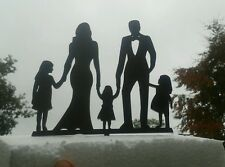 Our stunning silhouette Bride & Groom 3 girls Wedding cake Toppers
