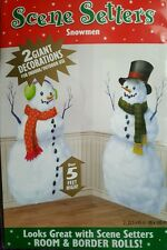 L@@K 2 GIANT CHRISTMAS SNOWMEN SCENE SETTERS OVER 5 FT HIGH