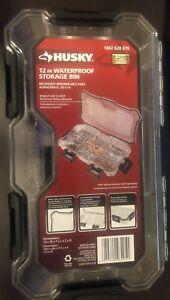 Husky 12 inch waterproof and dustproof 9 compartment adjustable storage bin