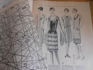 Vintage Modeheft 52/1928 Vobachs Familienhilfe mit Schnittmusterbogen