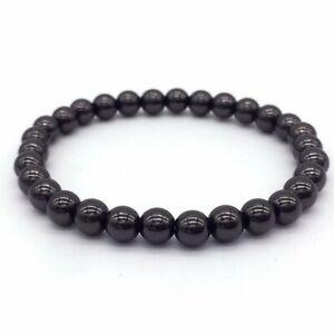 Luxury BohemianWomens Men 925 Silver Beads Stretch Stacked Bracelets Jewelry