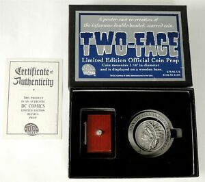 D118 TWO-FACE Official Coin Prop DC Direct Limited Edition #162 of 1,100 (2000)