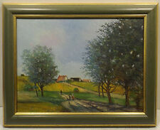 Zeitgenössische-Malerei Gemälde (1950-1999) aus Leinwand mit Impressionismus auf Landschaft & Stadt