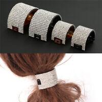 Big Crystal Rhinestone Black Crown Plastic Hair Claw Clamp Jaw Clip Fashion RF