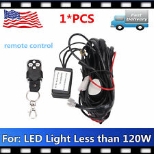 1X Remote Control Wiring Harness Kit Strobe Switch Relay Led Light 18/48/120W 2M