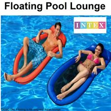 Intex 58836 Hammock Floating Vinyl 178x94 Cm With Cushion and Patch of Repairs