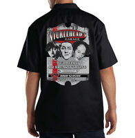 Dickies Black Mechanic Work Shirt Three Stooges Nyuklehead Garage American Icons