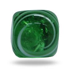 Glass Jairo Square White on Green Swirl Cabinet Drawer Knob Home Decor Door Pull