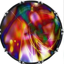 """Custom 22"""" Kick Bass Drum Head Graphical Image Front Skin Abstract 34"""