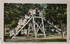 Hagerstown Md Vivian Slide Childrens Play Grounds City Park Postcard E1