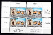 Österreich postfrisch Kleinbogen MiNr. 2292   Briefmarkenausstellung WIPA 2000