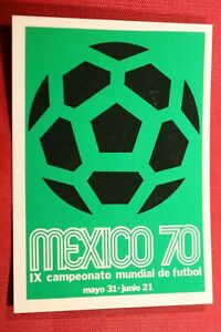 PANINI WORLD CUP STORY N. 19 POSTER WORLD CUP MEXICO NEW WITH ORIGINAL BACK