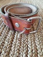 Gorgeous Brown Leather Belt Men Or Womens size 38