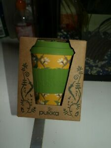 PUKKA REUSABLE CUP - BAMBOO boxed-unused-vgc