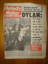 MELODY MAKER 1978 JUL 29 BOB DYLAN SEX PISTOLS ROTTEN