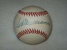 TED WILLIAMS HOF SIGNED AUTOGRAPHED VINTAGE AL BROWN BASEBALL D-2002 #2
