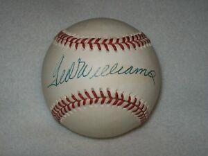 TED WILLIAMS HOF SIGNED AUTOGRAPHED VINTAGE AL BROWN BASEBALL D-2002 #2