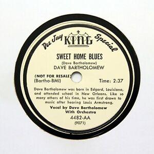 "DAVE BARTHOLOMEW ""Sweet Home Blues / Twins"" (E+) KING PROMO 4482 [BLUES 78]"