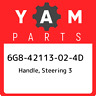 6G8-42113-02-4D Yamaha Handle, steering 3 6G842113024D, New Genuine OEM Part