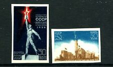 Russia 714a-715a imperf MNH  New York World's Fair-1939. Statue Pavilion, x22123