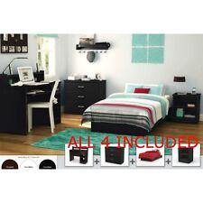 Full Bedroom Furniture Set Bed Nightstand Armoire Dresser Study Desk Storage Kid