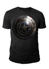 Marvel Comics - Captain America Silver Shield T-Shirt Schwarz  (S-XL)