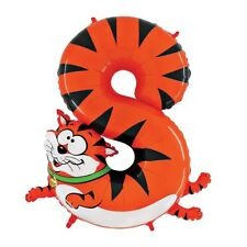 Cat Number Eight Giant Helium Balloon Birthday Party - Zooloons Betallic