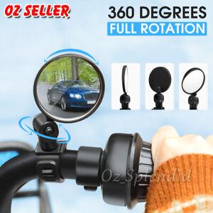 2x 360° Bike Bicycle Cycling Rear View Mirror Handlebar Safety Flexible Rearview
