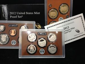 2012-S United States Mint Proof Set with Original Box and COA KEY DATE!