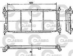 COOLING RADIATOR FOR VAUXHALL CORSA / COMBO  NEW GENUINE  VALEO 231179   REDUCED
