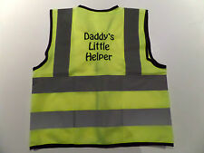 PERSONALISED KIDS HI VIZ JACKET - ANY TEXT - FUN GIFT- EMBROIDERED NEXT DAY