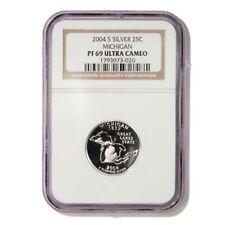 USA Michigan State Quarter 2004 S Silver Proof NGC PF 69 Ultra Cameo